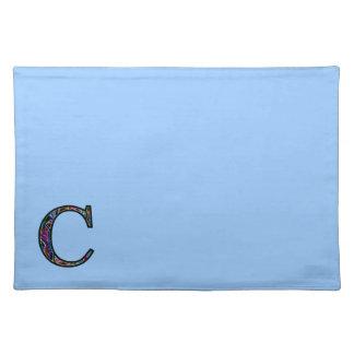 Cc Illuminated Monogram Cloth Placemat