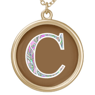 Cc Illuminated Monogram Gold Plated Necklace