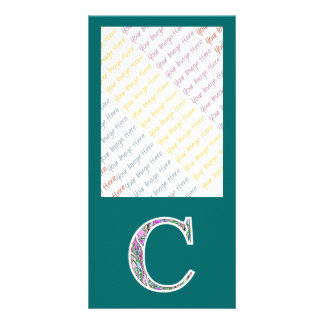 Cc Illuminated Monogram Photo Card Template