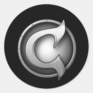 CC Logo Round Stickers