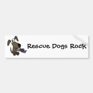 CC perro de perrito divertido que juega el dibujo  Pegatina Para Auto
