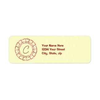 Cc Red Medallion Label