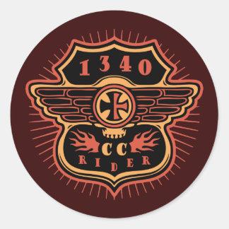 CC-shield-sk-1340-T Classic Round Sticker