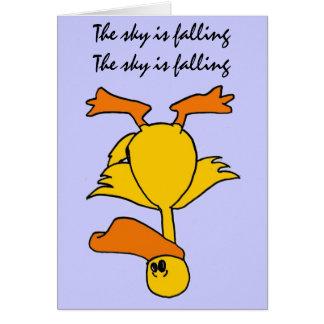 CC- Sky is Falling Birthday Card
