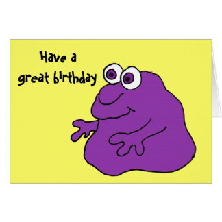 CC- Tickle Monster Birthday Card