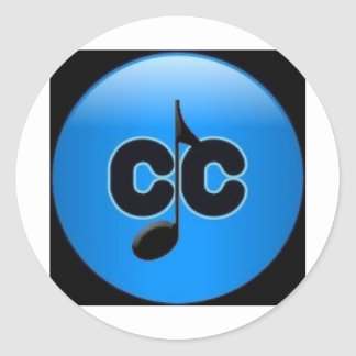 CC with note logo design from Conveyors Carnassial Round Stickers