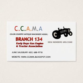 CCAMA Vintage Tractors Business Cards