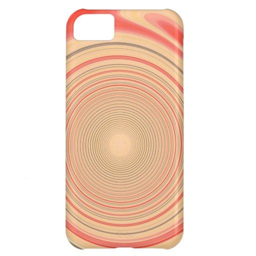 Ccases anaranjados del iPhone del remolino Funda Para iPhone 5C