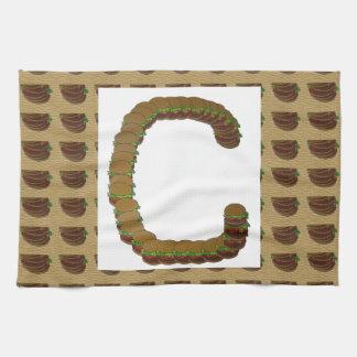 ccc ALPHA Alphabet design Identity ID Mark Hand Towels