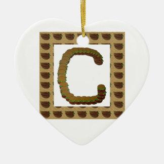 ccc ALPHA Alphabet design Identity ID Mark Christmas Tree Ornaments