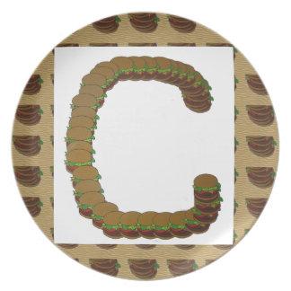 ccc ALPHA Alphabet design Identity ID Mark Dinner Plates