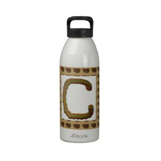 ccc ALPHA Alphabet design Identity ID Mark Drinking Bottle