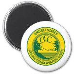 CCC Civilian Conservation Corps Commemorative 2 Inch Round Magnet