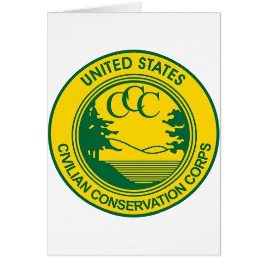 CCC Civilian Conservation Corps Commemorative Card