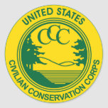 CCC Civilian Conservation Corps Commemorative Classic Round Sticker