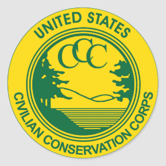 CCC Civilian Conservation Corps Commemorative Classic Round Sticker