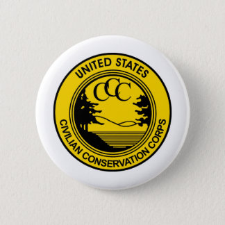 CCC Civilian Conservation Corps Commemorative Pinback Button