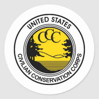 CCC Civilian Conservation Corps Tribute Classic Round Sticker
