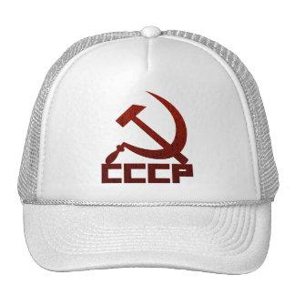 CCCP apenado con el martillo y la hoz Gorro De Camionero