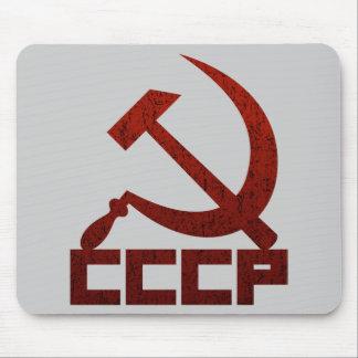 CCCP apenado con el martillo y la hoz Alfombrilla De Ratones