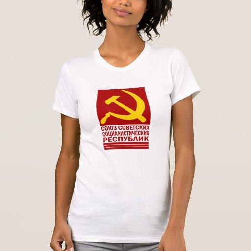 CCCP con el martillo y la hoz T-shirts