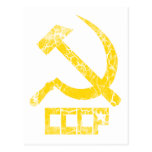 CCCP Hammer and Sickle Vintage Postcard
