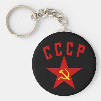 CCCP (llavero del estilo M) Llavero Redondo Tipo Pin