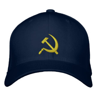 CCCP Soviet Sickle & Hammer Hat Navy Gold Embroidered Hat