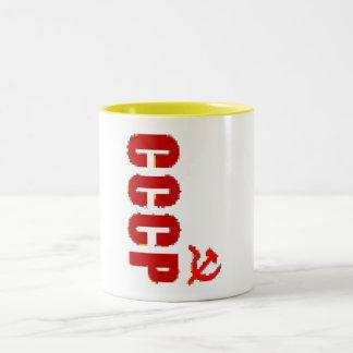 CCCP SSSR SOVIET PIXEL COFFEE MUGS