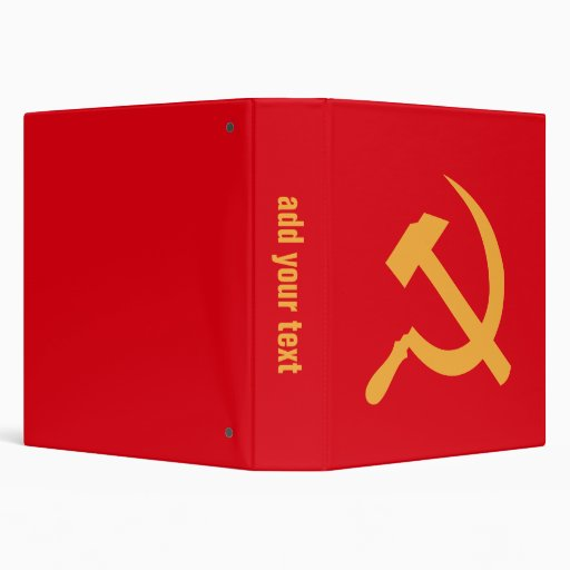 cccp ussr hammer and sickle 3 ring binders