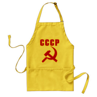 cccp ussr hammer and sickle adult apron