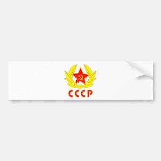 cccp ussr hammer and sickle emblem bumper sticker