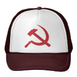 cccp ussr hammer and sickle mesh hat