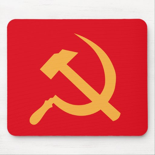 cccp ussr hammer and sickle mouse pad