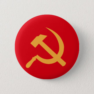 cccp ussr hammer and sickle pinback button