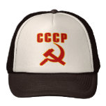 cccp ussr hammer and sickle trucker hats