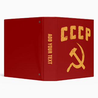 cccp vintage russian ussr hammer and sickle 3 ring binder