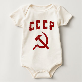 cccp vintage ussr hammer and sickle baby bodysuit