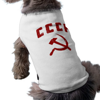 cccp vintage ussr hammer and sickle pet tee shirt