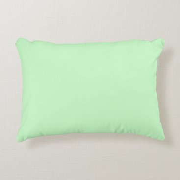 Professional Business #CCFFCC Hex Code Web Color Light Mint Green Accent Pillow