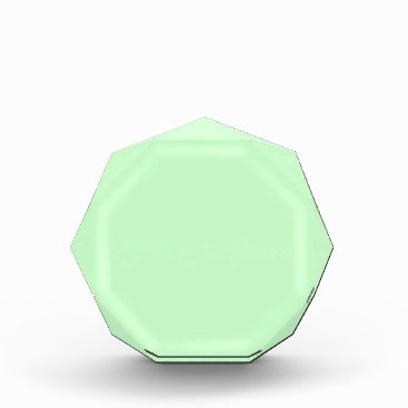 Professional Business #CCFFCC Hex Code Web Color Light Mint Green Acrylic Award