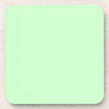 Professional Business #CCFFCC Hex Code Web Color Light Mint Green Beverage Coaster