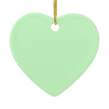 Professional Business #CCFFCC Hex Code Web Color Light Mint Green Ceramic Ornament