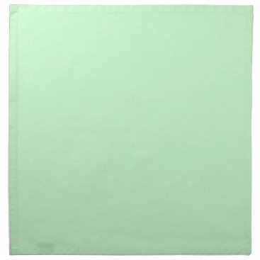Professional Business #CCFFCC Hex Code Web Color Light Mint Green Cloth Napkin