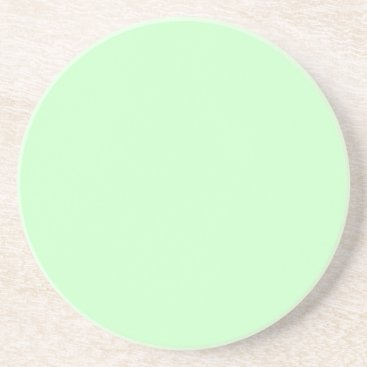Professional Business #CCFFCC Hex Code Web Color Light Mint Green Coaster
