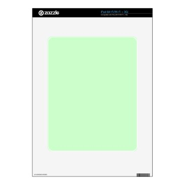 Professional Business #CCFFCC Hex Code Web Color Light Mint Green Decals For The iPad