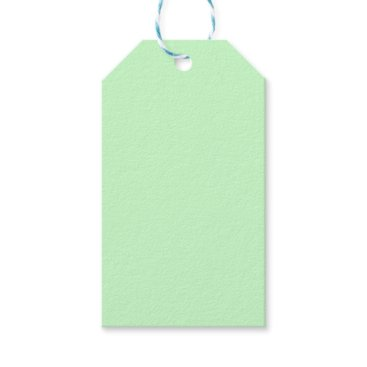 Professional Business #CCFFCC Hex Code Web Color Light Mint Green Gift Tags