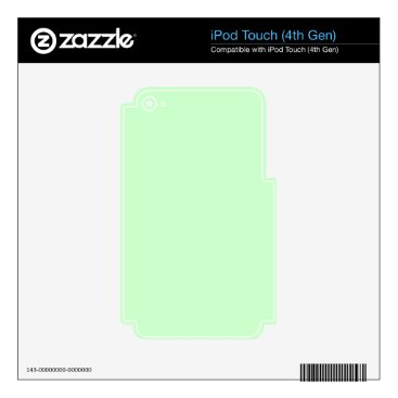 Professional Business #CCFFCC Hex Code Web Color Light Mint Green iPod Touch 4G Skins