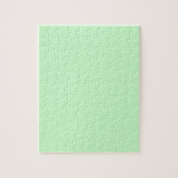 Professional Business #CCFFCC Hex Code Web Color Light Mint Green Jigsaw Puzzle
