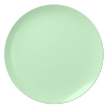 Professional Business #CCFFCC Hex Code Web Color Light Mint Green Melamine Plate